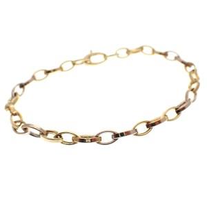 gouden ankerschakel armband