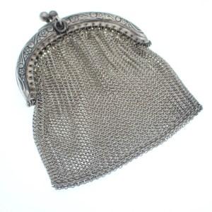 zilveren beursje portemonnee
