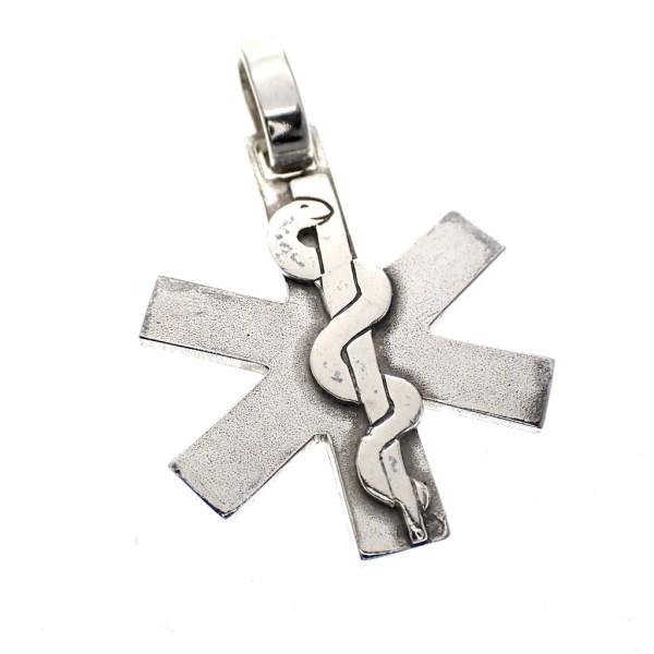 zilveren hanger esculaap