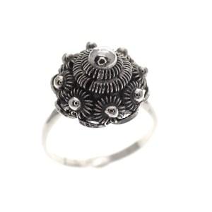zilveren ring Zeeuwse knop