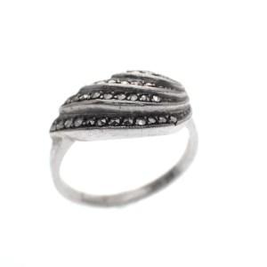 zilveren ring markasiet