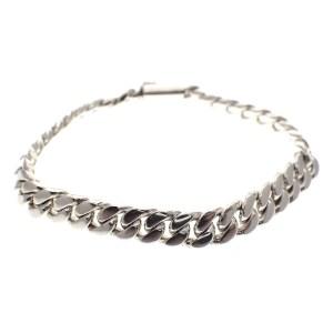 zilveren zware gourmet schakel armband
