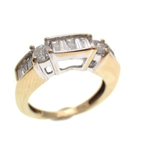 gouden ring diamanten cluster
