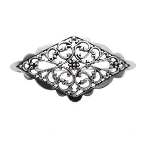 Zilveren vintage broche