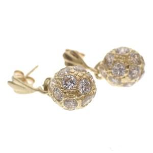 gouden oorbellen zirconia hanger