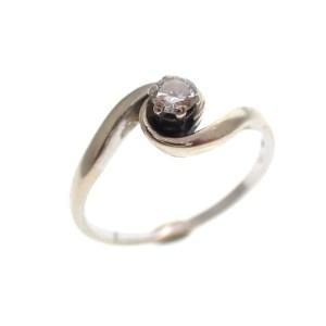 bicolor gouden ring met diamant gedraaid