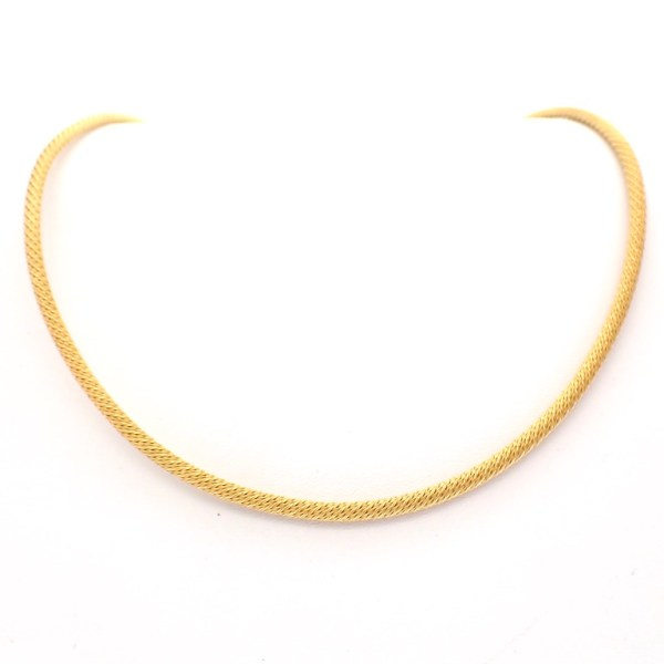 18 karaat kabel ketting collier goud
