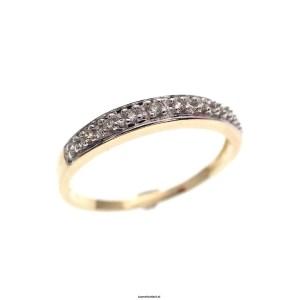bicolor gouden rijring diamant