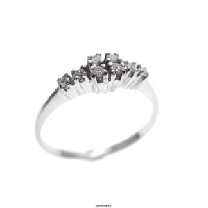 Witgouden antieke ring met diamanten