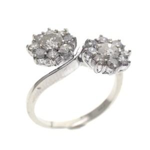 witgouden. entourage ring diamant