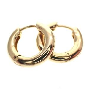 gouden creolen 15 mm