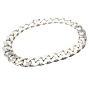 zilveren dikke schakel armband
