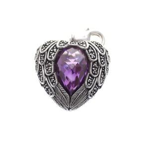 zilveren hanger thomas sabo hart met steen
