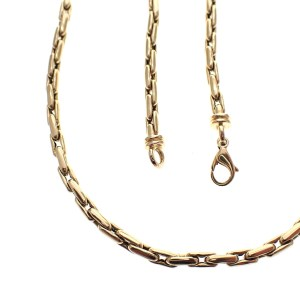 gouden ronde ankerschakel ketting