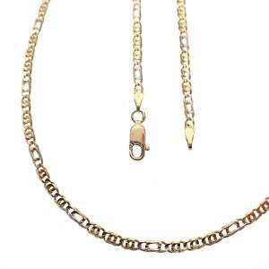 bicolor gouden figaro ketting