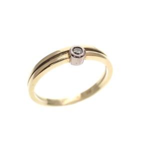 kleine gouden ring met diamant
