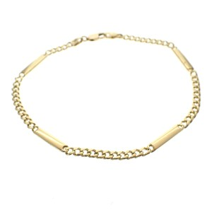 gouden heren armband