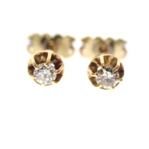 gouden oorknopjes met diamanten