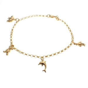 gouden bedel armband
