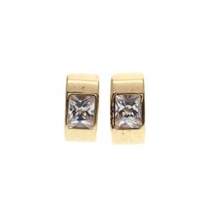 gouden oorstekers zirconia
