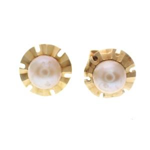 60's oorstekers met parel gouden