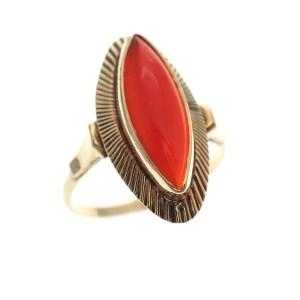 antiek gouden ring carneool