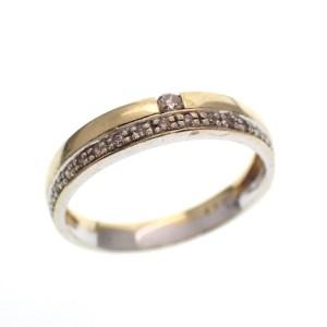 gouden rijring met diamanten
