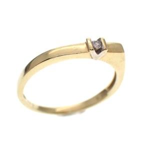 gouden damesring met diamantje