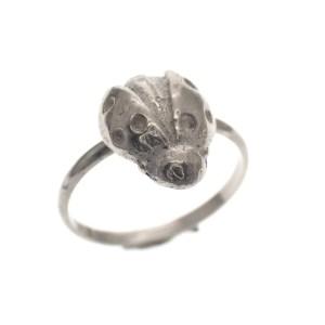 zilveren meisjes ring lieveheersbeestje