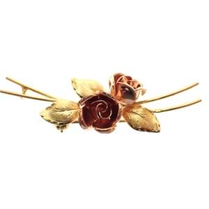 antieke broche van rozen goud