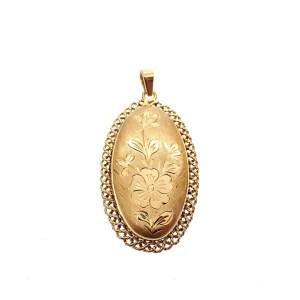 antieke gouden kettinghanger