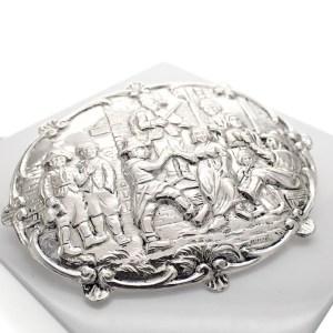 antieke zilveren broche