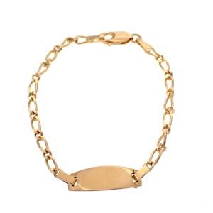 gouden armband met plaatje kind