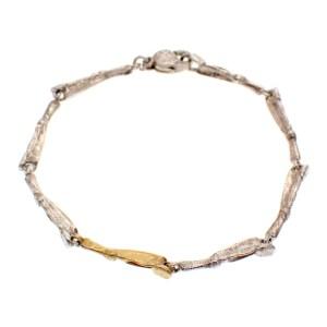 Zilver met gouden armband