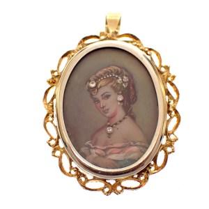 antieke medaillon goud