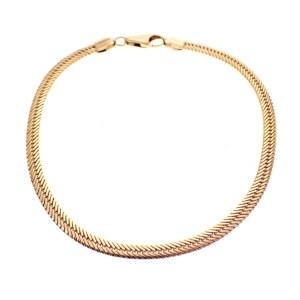 gouden visgraat schakel armband