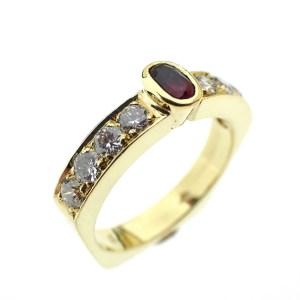 gouden ring robijn diamant