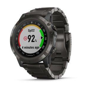 D2 DELTA PX SAPHIR Schwarz DLC Titan-Luenette mit QUICKFIT-DLC-Titan-Armband 26mm Schwarz + Silikon-Armband Schwarz