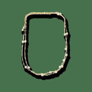 Gellner Delight Halskette aus 750 Roségold mit 16 Akoya-Perlen.