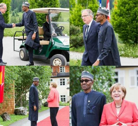 Image result for buhari in germany