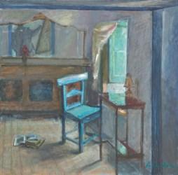 Blauw stoeltje