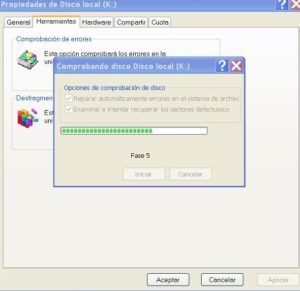 Chequear disco en windows