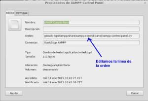 Editar orden acceso directo