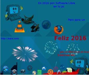 Feliz 2016 con GNULinux de Jvare