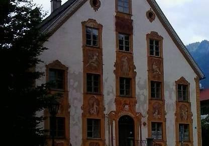 Sur de Baviera, Oberammergau arte en las fachadas