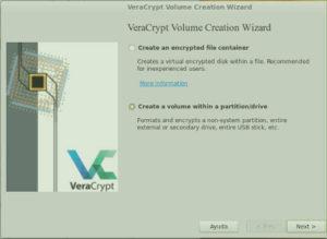 Crear disco encryptado con Veracrypt