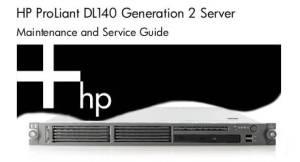 Manuales de Servidores Proliant DL140 G2
