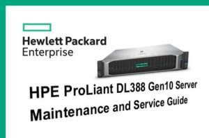 Manuales HPE Proliant DL388 Gen10