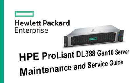 Manual Servidores HPE Proliant DL388