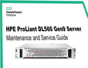 HPE Proliant DL560, manuales gen 9